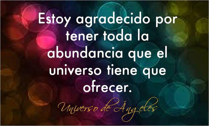 Afirmación de GRATITUD. #UniversoDeAngeles