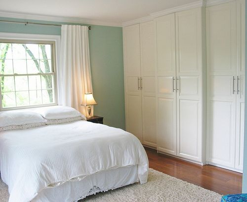 we removed the old closet wall and used the ikea pax system closet units we - Bedroom Wall Closet Systems