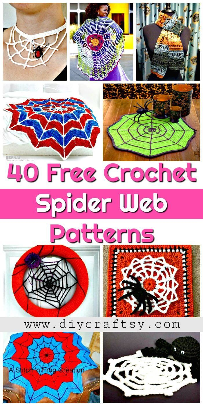 40 Free Crochet Spider Web Patterns - DIY & Crafts