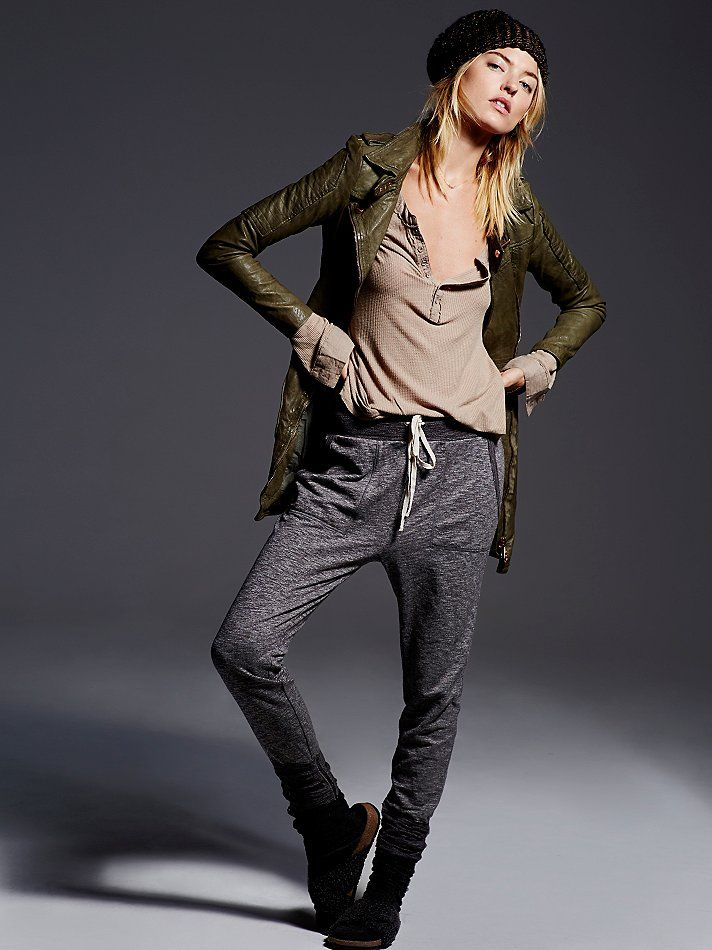 Nyx says: <3 this whole outfit!!  Intimately Sweat It Slim Jogger at Free People Clothing Boutique