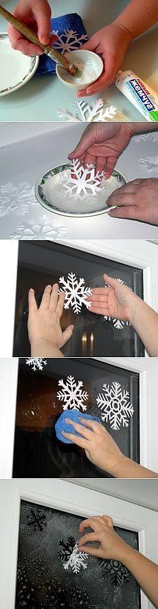 Украшаем окна снежинками / Новый год / Новогодний декор