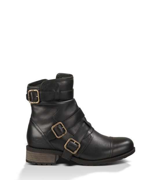 Loving these @uggaustralia Finney Leather moto boots since I'm a fan of buckles, UGG comfort with high style for the season #Shoes
