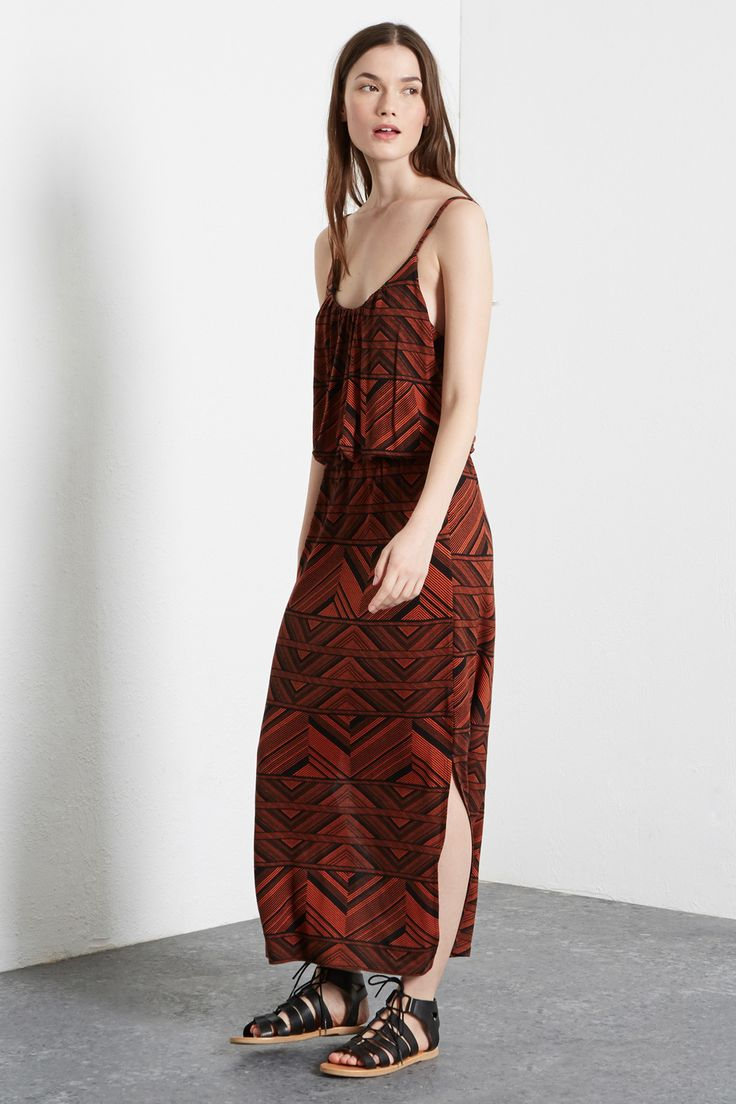 TRIBAL CUTABOUT MIDI DRESS
