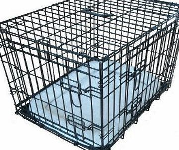 Ellie-Bo Deluxe Extra Strong 2 Door Folding Dog Puppy Cage with Faux Sheepskin Bed Small 24 inch Black No description (Barcode EAN = 5060311340054). http://www.comparestoreprices.co.uk/december-2016-week-1-b/ellie-bo-deluxe-extra-strong-2-door-folding-dog-puppy-cage-with-faux-sheepskin-bed-small-24-inch-black.asp