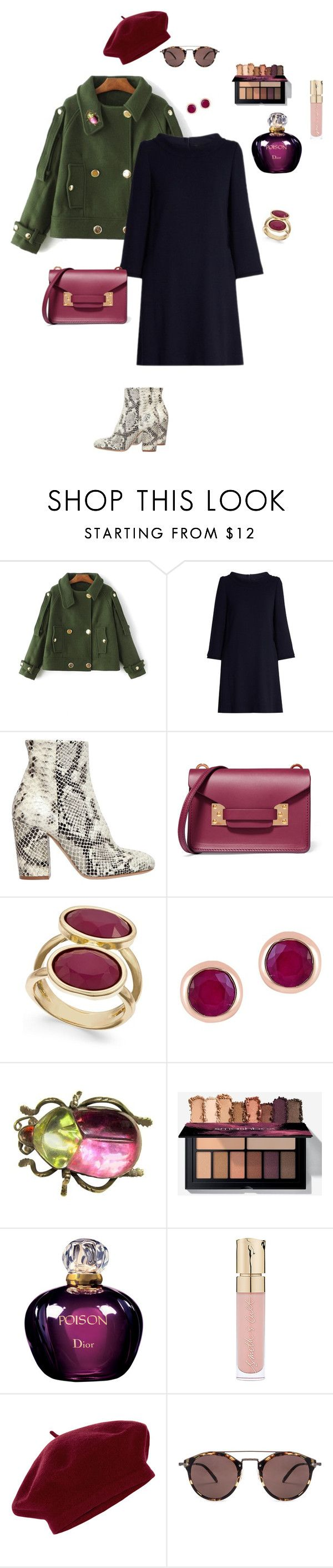 """""""military jacket"""" by ulusia-1 ❤ liked on Polyvore featuring Goat, Strategia, Sophie Hulme, INC International Concepts, Effy Jewelry, Christian Dior, Smith & Cult, Accessorize and Oliver Peoples"""