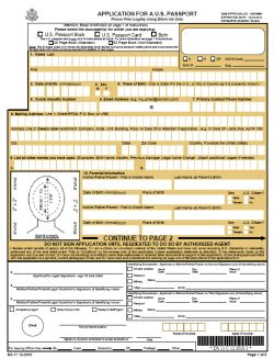 DS-11 Application Form for New Passport