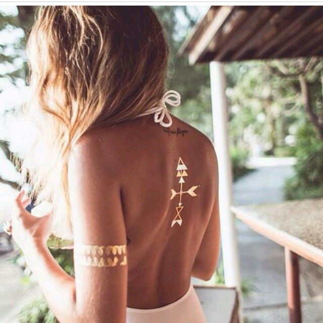 | ROAR VIBE LONDON | Metallic arrow tattoos. Pin via - http://stores.ebay.com.au/Vixzenx-Vintage
