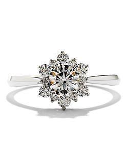 Snowflake solitaire. Gorgeous!