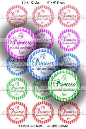 Digital Bottle Cap Images - Princess Sayings (R730) Digital Collage | BottlecapBuzz - Graphics on ArtFire