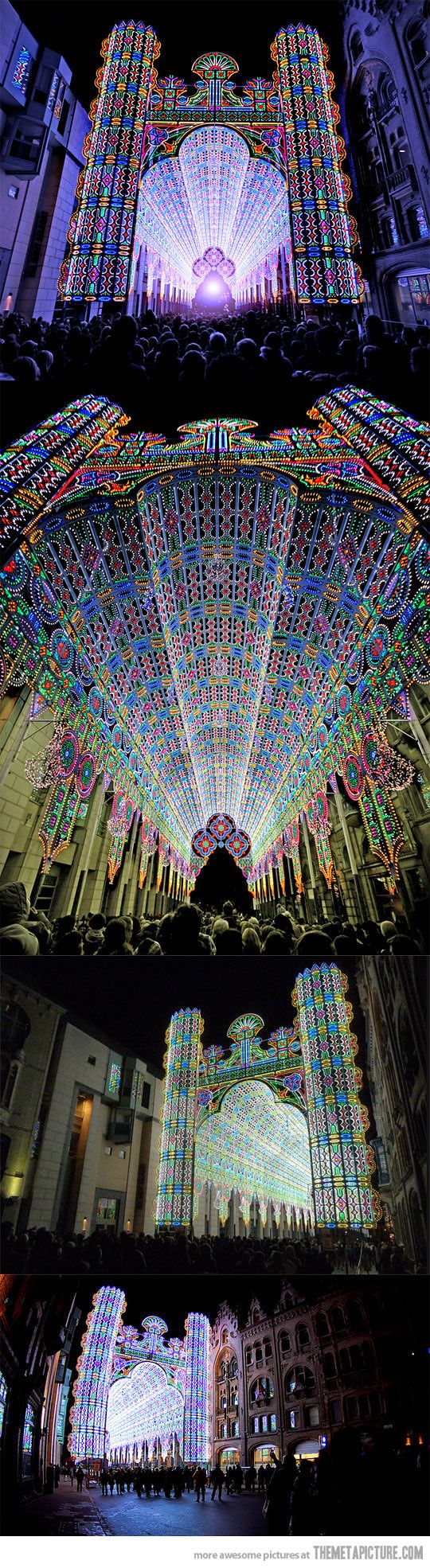 Light Festival in Ghent, Belgium. My daughter would love to see this!