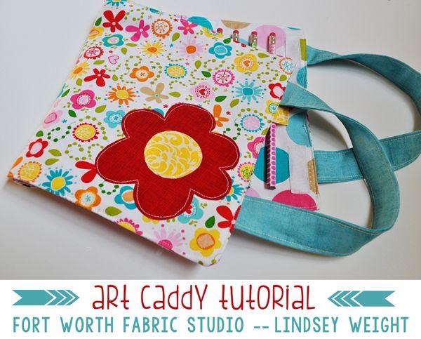 http://fortworthfabricstudio.blogspot.co.uk/2014/08/art-caddy-tutorial.html Fort Worth Fabric Studio: Art Caddy Tutorial