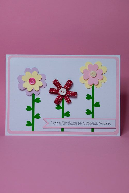 106 best handmade birthday cards images on pinterest envelopes handmade 3d 3 flowers birthday card female birthday card birthday card for her flower birthday card 3d flower card ribbon flower card thecheapjerseys Images