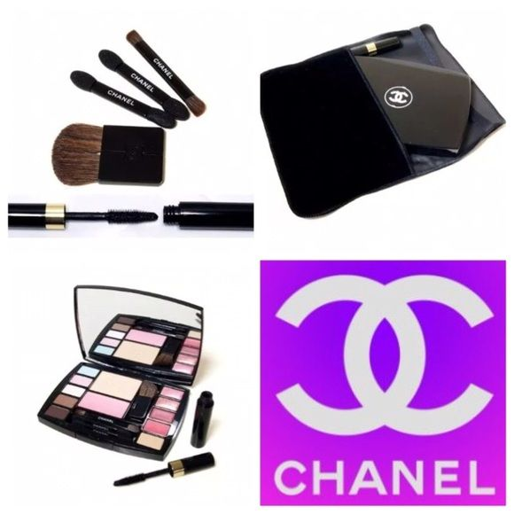 CHANEL 2 SETS of Palette Make Up!!! SALE!! CHANEL. 2 SETS of Palettes!! Please read my 5 stars buyers review for this product purchase from me. AUTHENTIC. NOT FROM CHINA.. ALTITUDE (limited) COLLECTION.  One set of fabulous palette package include everything in the picture: Face powder, Blush Concealer,  5 colors eye shadow  2 colors lipgloss, 2 colors lipsticks,  CHANEL VELVET POUCH, CHANEL BRUSHES CHANEL 3 applicators, Travel Size Mascara.  Authentic, NEW, SEALED.DO NOT BUY THIS, I  will…