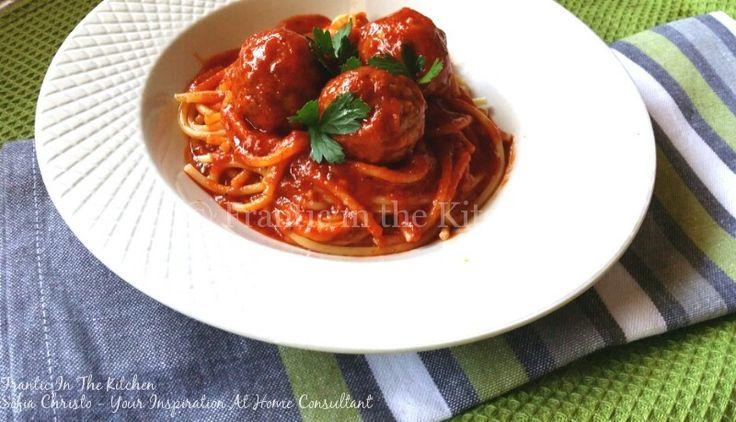 Easy Stroganoff meatballs with passata
