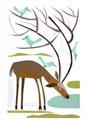 Love these folk art illustrations!!! Artwork from Urubbu: Christmas Cards, Reindeer, Art Illustrations, Urubbu Deer Card, Folk Art, Art Cards, Illustrations Artwork, Greeting Card, Folkart