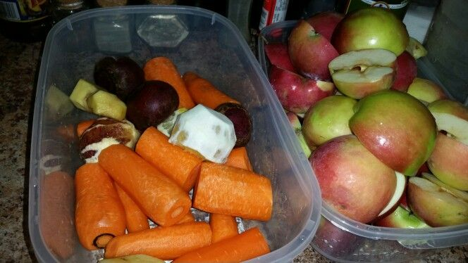 Fruits  and veggies  prep  for  juicing