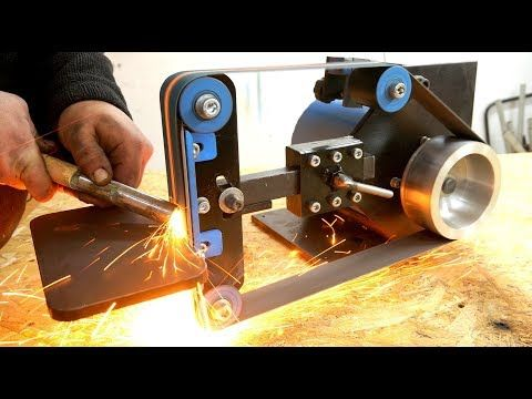 """(10) BELT SANDER 2x48"""" from Electric mower - YouTube"""