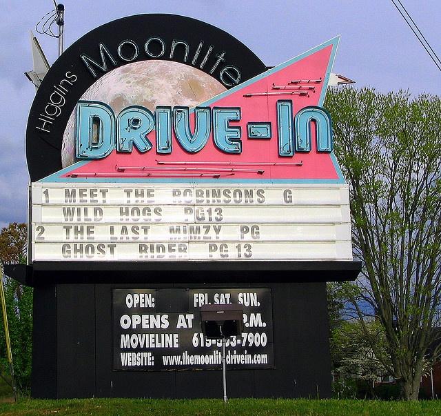 Higgins Moonlite Drive-In.... Along U.S. 70S .....Woodbury, TN