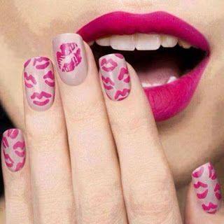 uñas con labios