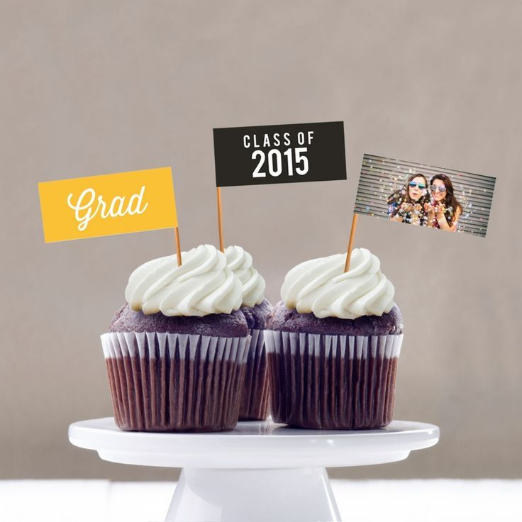 Graduation Party Decorations -- Favorite Photo Cupcake Flags | Pear Tree Greetin...  #cupcake #decorations #favorite #flags #graduat