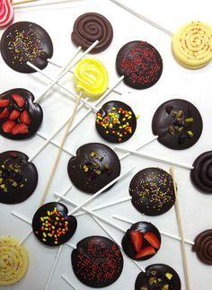 Γλειφιτζουράκια με σοκολάτα και φρέσκα φρούτα | ION Sweets