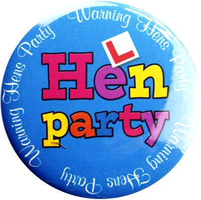 Hens Party Badge - Blue. Hens Party Badge - Blue    A colourful, fun badge Hens Party Badge.     Get one each for all the girls!
