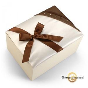 urne mariage ivoire et chocolat