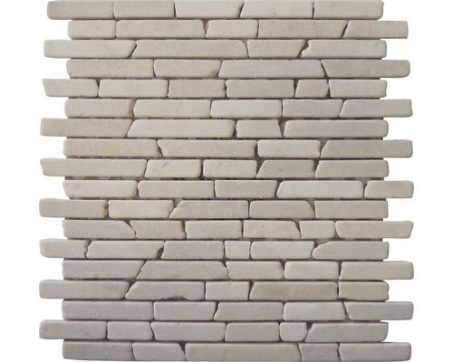 Marmor-Natursteinmosaik Biancone 30,5x30,5 cm