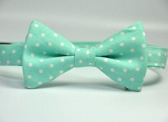 Aqua Polka Dot Bow Tie for Boys by MeandMatilda on Etsy, $19.99