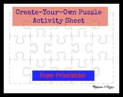 Free printable for kids - puzzle themed