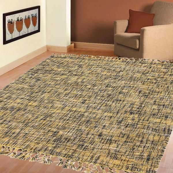 SUNSHINE COTTON FLAT WOVEN YELLOW RUGS