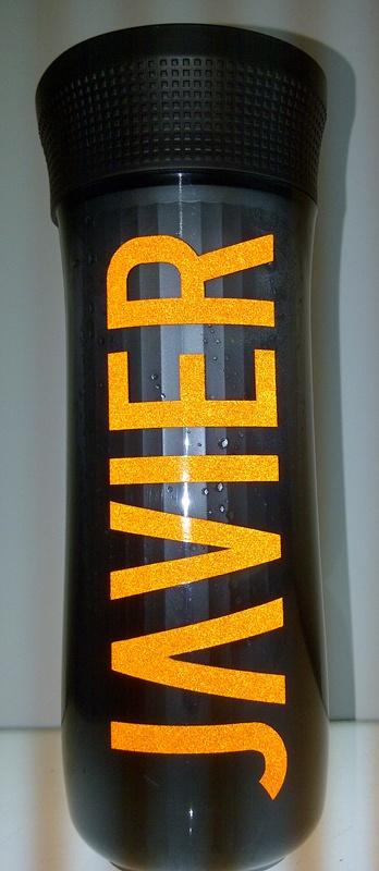 Vaso termico plastico con vinyl reflectivo