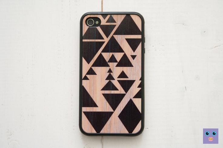 iPhone 4, 4S Case - Triangle Geometric / Black on Wood. $15.99, via Etsy.Iphone Cases, Iphone 4S, Triangles Geometric, 5S Cases, 4S Cases, Block Cases Thy, Iphone 5 Cases, Cases Triangles, Geometric Triangles