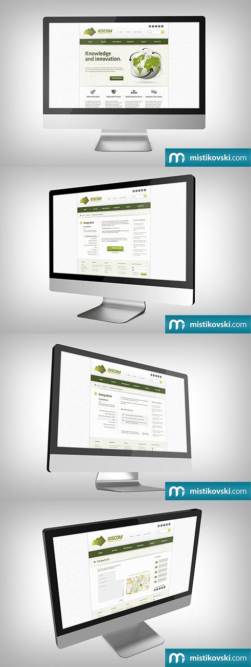 Ioscom | Web Design | www.mistikovski.com