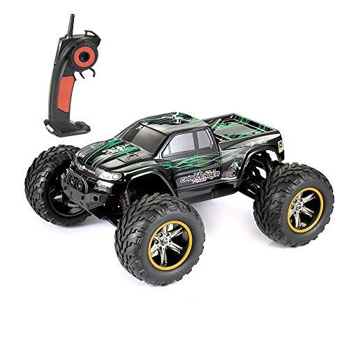 GPTOYS 33+MPH 1/12 Scale Electric RC Truck 2.4Ghz 2WD High Speed Remote Controlled Car  【INCREDIBLE SPEED】: Equipped with the powerful GP Brush 390 motor-largest in class/800mph battery/ smooth driving systems, the truck can reach speed: 33+MPH.  【OFF ROADING FUN】: This 1/12 Scale 2.4Ghz 2WD High Speed Remote Controlled Car can be play in every terrain: dirt, sand, rock or mud because of its realistic all-terrain tires with foam inserts.  【IMPROVED TRUCK BODY】: The truck body was highl...