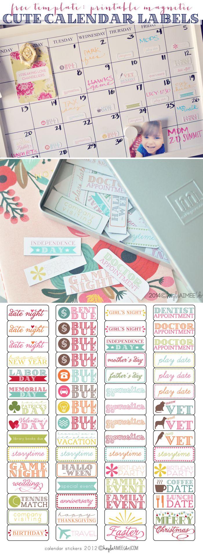 Kids Calendar Stickers : Best magnetic calendar ideas on pinterest family