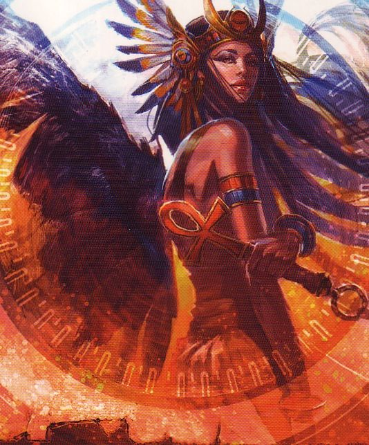 Isis - as the enchantress who resurrected Osiris and gave birth to Horus, she was also the giver of life, a healer and protector of kings