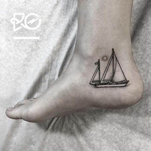 By RO. Robert Pavez • Tiny Sailboat • Bookings: robert@roblackworks.com ⚫️ Please! Do Not Copy ®  • Studio Nice tattoo - Stockholm - Sweden 2016