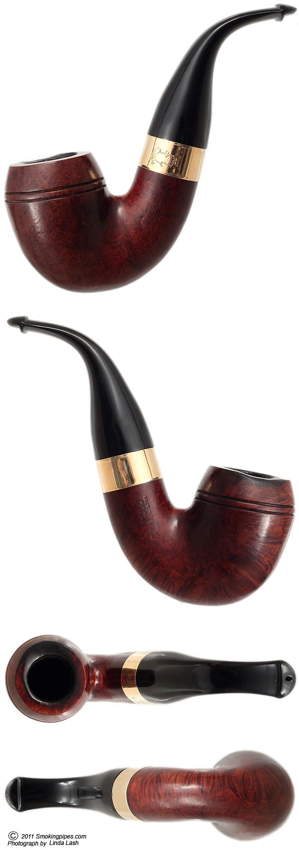 Irish Estate Peterson Sherlock Holmes Baskerville Smooth with 9K Gold Band (P-lip) Pipes at Smoking Pipes .com, Once again, I HATE the P-Lip, but this is a cool pipe.