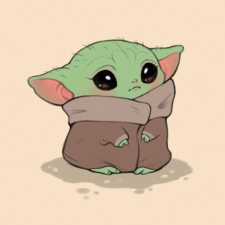 Pin On Cute Baby Yoda Cute Cartoon Drawings Yoda Art Cute Disney Drawings