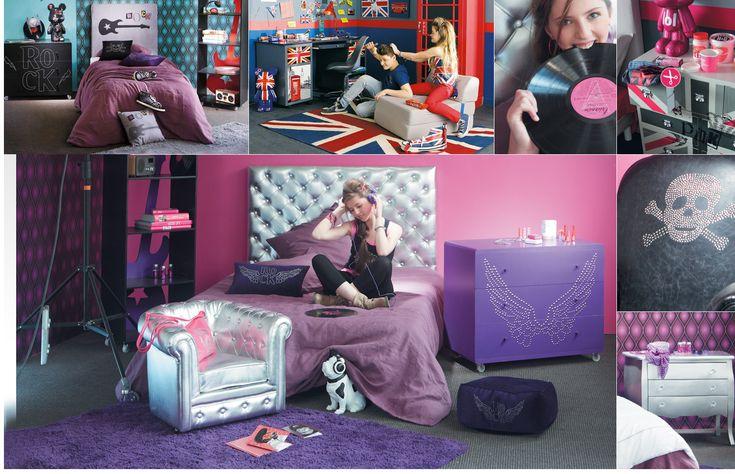 collection junior urban ado maisons du monde chambre loane pinterest british rock. Black Bedroom Furniture Sets. Home Design Ideas
