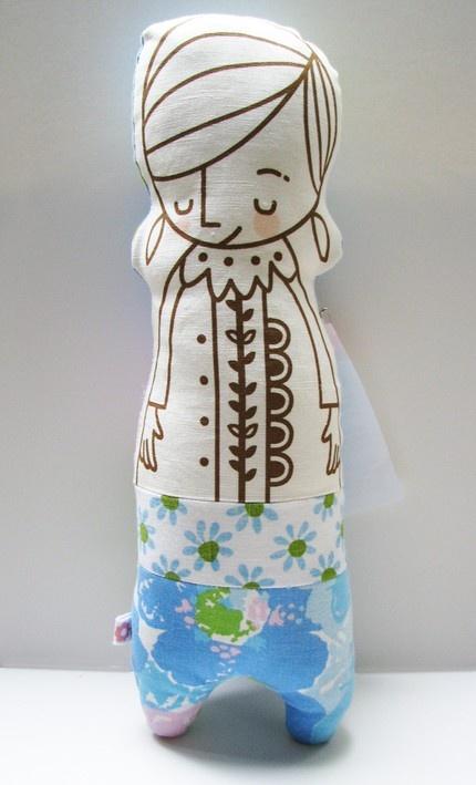 """Bashful Mabel Doll: 13""""tall"""