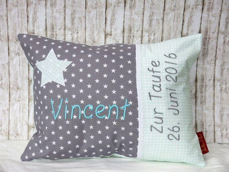 """Namenskissen - Namenskissen """"Kleiner Stern """" mint inkl. ein Name - ein Designerstück von Julies-Place bei DaWanda"""