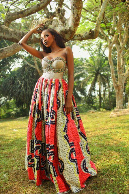 beautiful African inspired dress. #chic