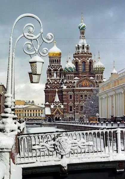 The Church of the Savior by Spilled Blood,St Petersburg,Russia in winter.A♥W