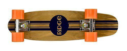 Ridge Skateboard 7-Ply Ahorn Holz Mini Cruiser orange wheels -my New board