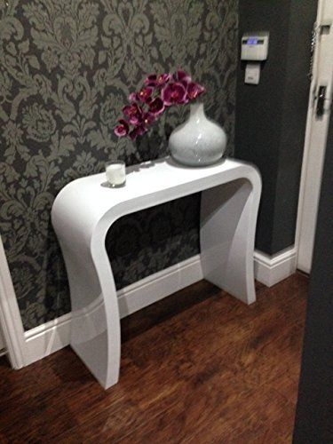 High gloss black modern designer hallway console table dressing table sideboard - Modern black dressing table ...