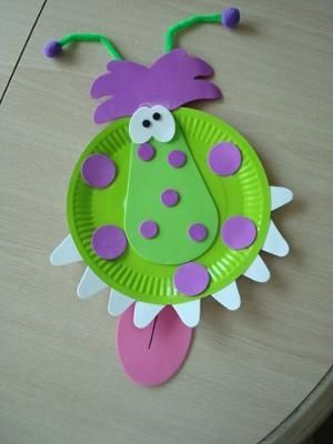 My Monster Paper Plate Crafts Kit Came With Everything I Needed To Make This Cute Guy