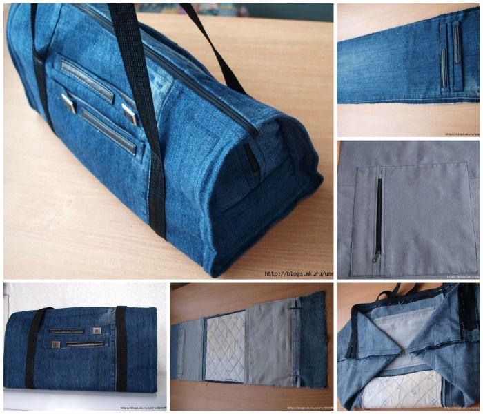 diy denim jeans into handbag Faire un sac avec un jean (TUTO)
