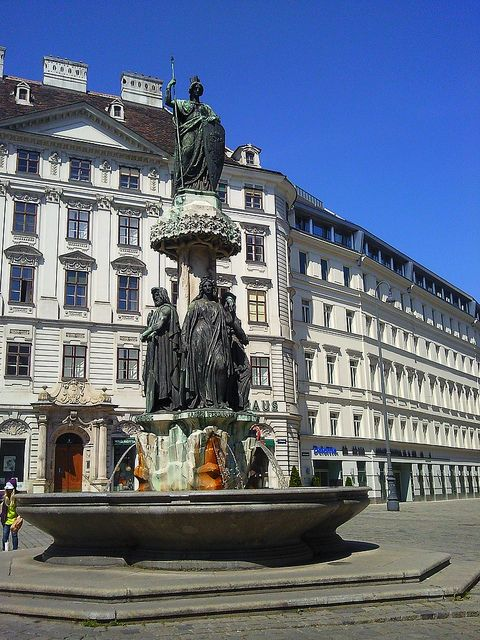Fountain in Vienna, Austria.